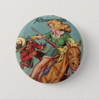 Cowgirl 2 Inch Round Button