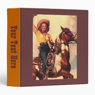 Cowgirl and Her Horse 3 Ring Binders