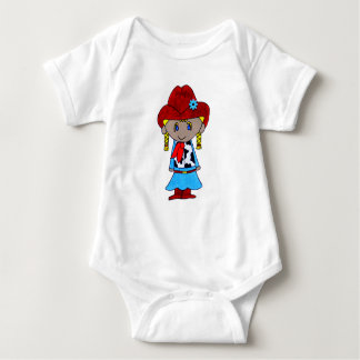 cowgirl baby bodysuit