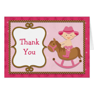 Cowgirl Baby Thank You Card