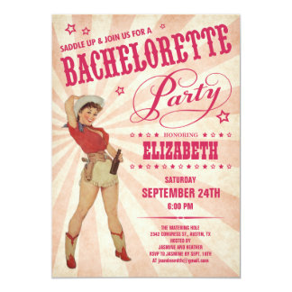 Cowgirl Bachelorette Party Invitations