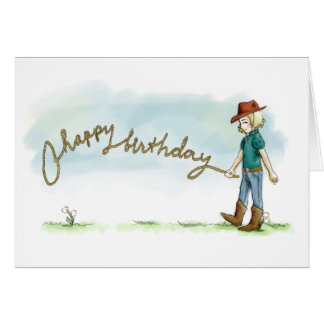 Cowgirl Birthday Card