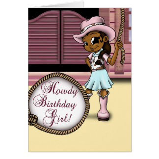 """Cowgirl Birthday Cards"" Card"