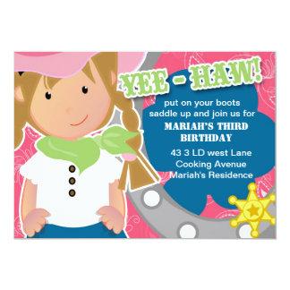 Cowgirl Birthday Invitation Blonde
