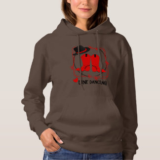 Cowgirl Boots Cute Line Dancing Theme Graphic Hoodie