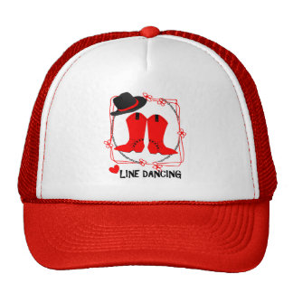 Cowgirl Boots Cute Line Dancing Theme Graphic Trucker Hat