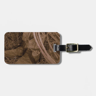 Cowgirl Boots & Lariat Luggage Tag