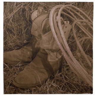 Cowgirl Boots & Lariat Napkins