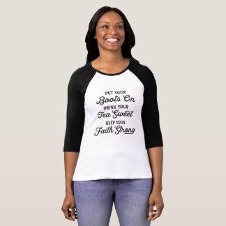 Cowgirl Boots, Sweet Tea, Faith Southern T-Shirt