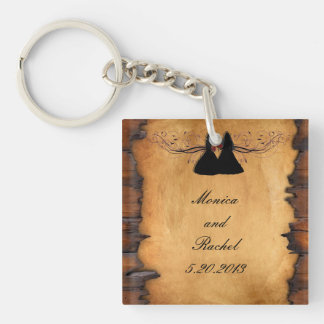 Cowgirl Brides Custom Wedding Key Chain Favors