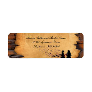 Cowgirl Brides Custom Wedding Return Address