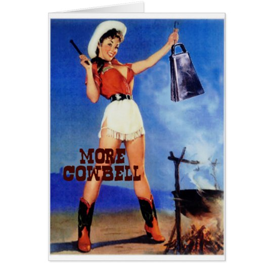 cowgirl cowbell card