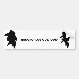 Cowgirl, Cowboy, RANCHO Bumper Sticker