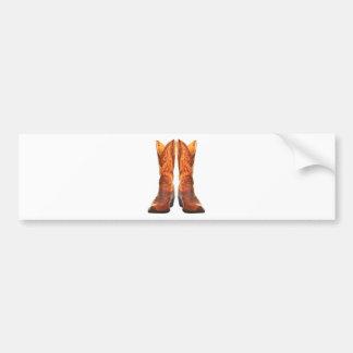 Cowgirl & Cowboy Western Boots Bumper Sticker