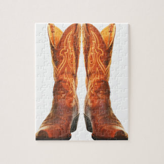 Cowgirl & Cowboy Western Boots Jigsaw Puzzle
