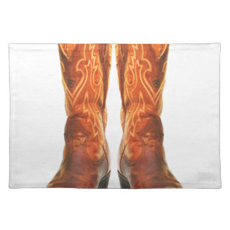 Cowgirl & Cowboy Western Boots Placemat