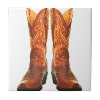 Cowgirl & Cowboy Western Boots Tile