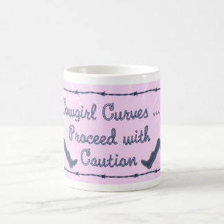 Cowgirl Curves proceed with Caution Coffee Mug