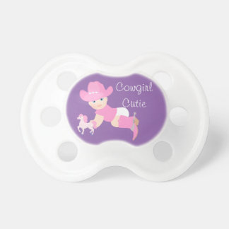 Cowgirl Cutie Baby With Pink Hat, Boots and Horse Pacifier
