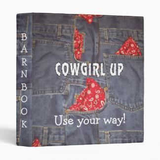 Cowgirl Denim Bandana PRINT Barn Book Avery Binder