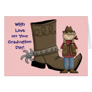 Cowgirl Graduation Boot & Spur - Western Card