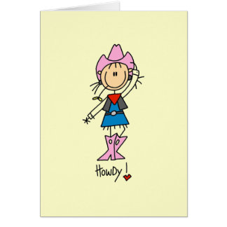 Cowgirl in Pink T-shirts and Gifts Card