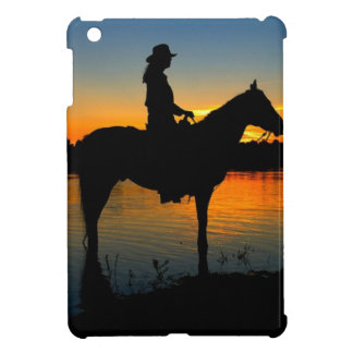 Cowgirl in Sunset iPad Mini Case