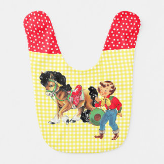 Cowgirl Kid With Horse 2 Bib