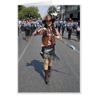 Cowgirl Majorette Card