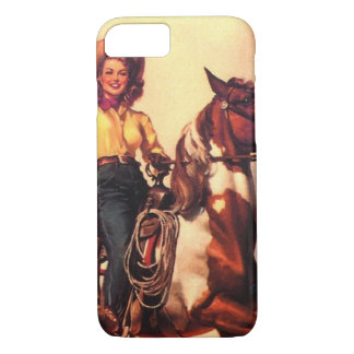 Cowgirl on Her Horse iPhone 8/7 Case