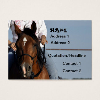 Cowgirl on Horse Business Card