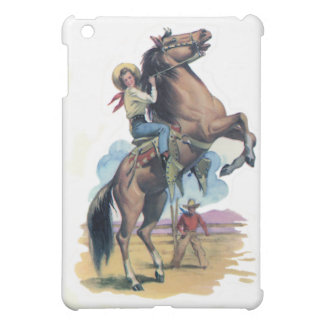 Cowgirl on Horse iPad Mini Cover