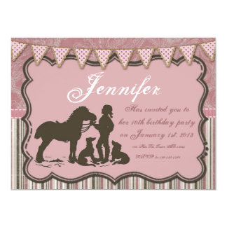 Cowgirl on Pink Card