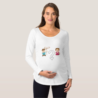 Cowgirl or Cowboy Gender Reveal Maternity T-Shirt