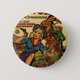Cowgirl out on the Range 2 Inch Round Button