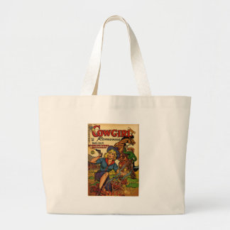 Cowgirl out on the Range Large Tote Bag