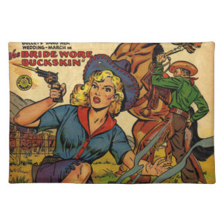 Cowgirl out on the Range Placemats