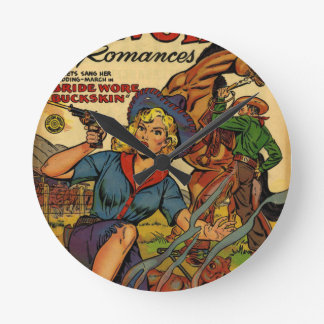 Cowgirl out on the Range Wall Clocks