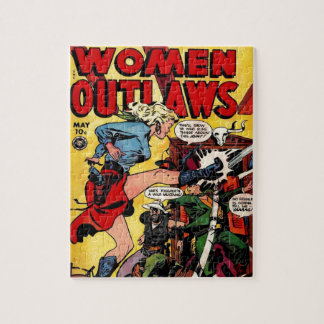 Cowgirl Outlaw Jigsaw Puzzle