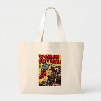 Cowgirl Outlaw Large Tote Bag