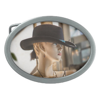 Cowgirl Oval Belt Buckle