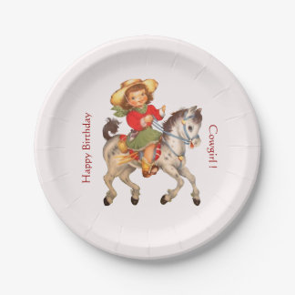 Cowgirl Party Paper Plate