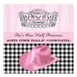 Cowgirl Princess Birthday Party Personalized Invite