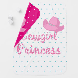 Cowgirl Princess Text With Hat Baby Blanket