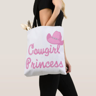Cowgirl Princess With Pink Cowboy Hat Tote BAg