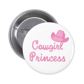 Cowgirl Princess With Pink Hat 2 Inch Round Button