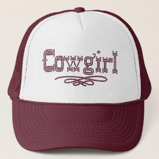Cowgirl Print Truckers Cap