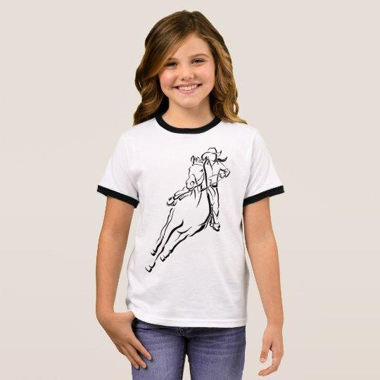 Cowgirl Racer Ringer T-Shirt
