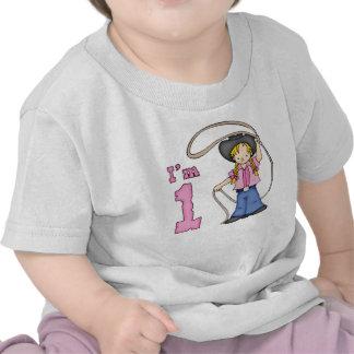 Cowgirl Roper 1st Birthday T-shirt