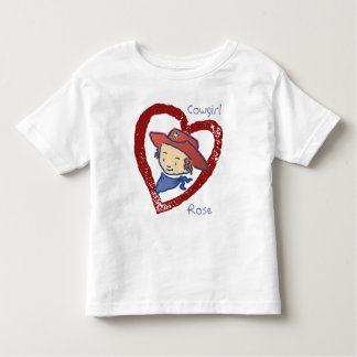 Cowgirl Rose Be Mine Toddler T-shirt